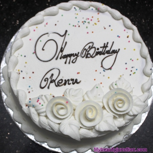 Happy birthday Renu icing cake