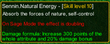 naruto castle defense 6.3 Sennin Natural Energy detail
