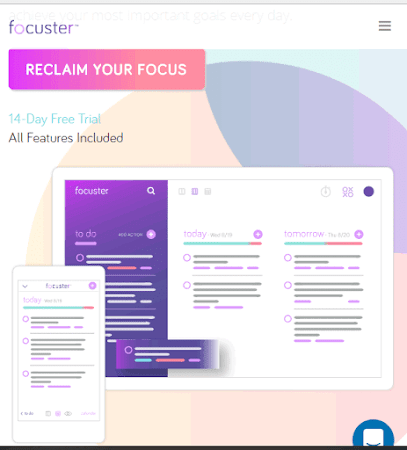 Focuster helps you remain focus and increase productivity