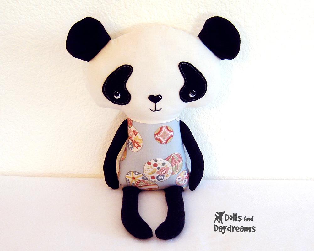 Dolls and daydreams doll and softie pdf sewing patterns panda pandakawaiicutesoftietoysewingpattern1g jeuxipadfo Choice Image