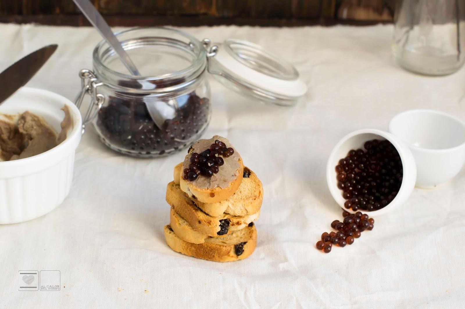 Pate al pedro ximenez con su caviar