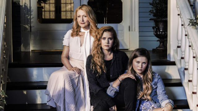 Amy Adams, Patricia Clarkson and Eliza Scanlen in Sharp Objects the HBO series based on the book by Gillian Flynn