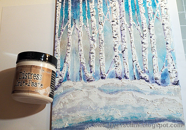 Layers of ink - Birch Tree Mixed Media Tutorial by Anna-Karin