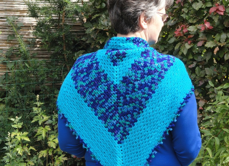 Ginginis Crafts And Quilts Tutorial Granny Driehoek Shawl