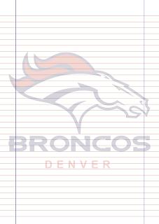 Papel Pautado do Denver Broncos para imprimir na folha A4