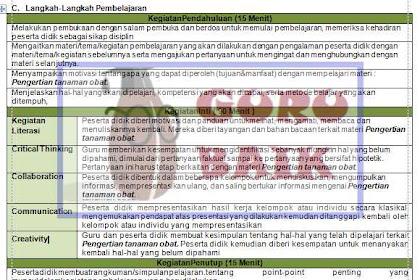 Download Rpp Prakarya SMP Kelas VIII Format 1 Lembar Revisi 2020