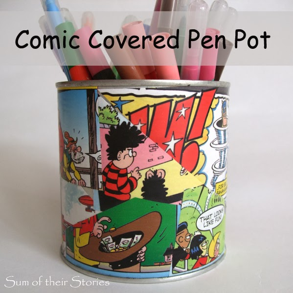 Recycled Comic Book Pen Tub