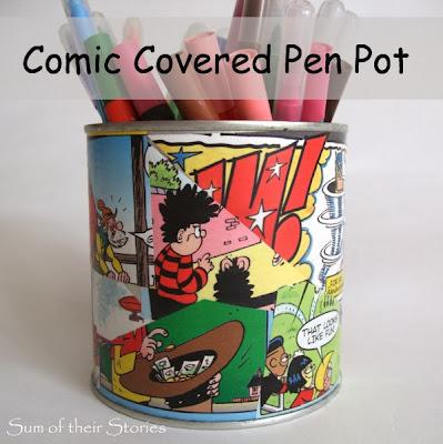 Comic Covered Pen Pot