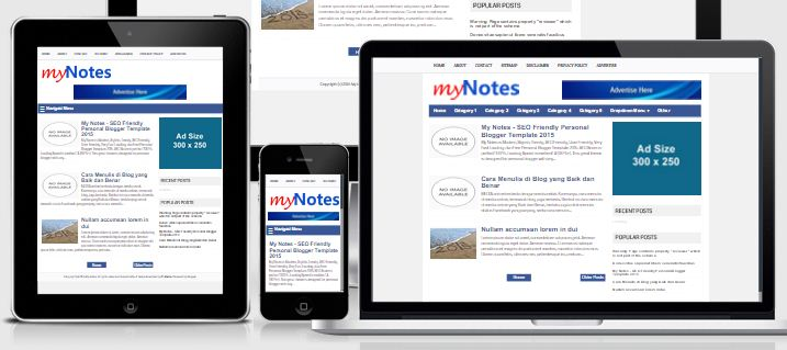 My Notes Seo Friendly Personal Blogger Template 2017