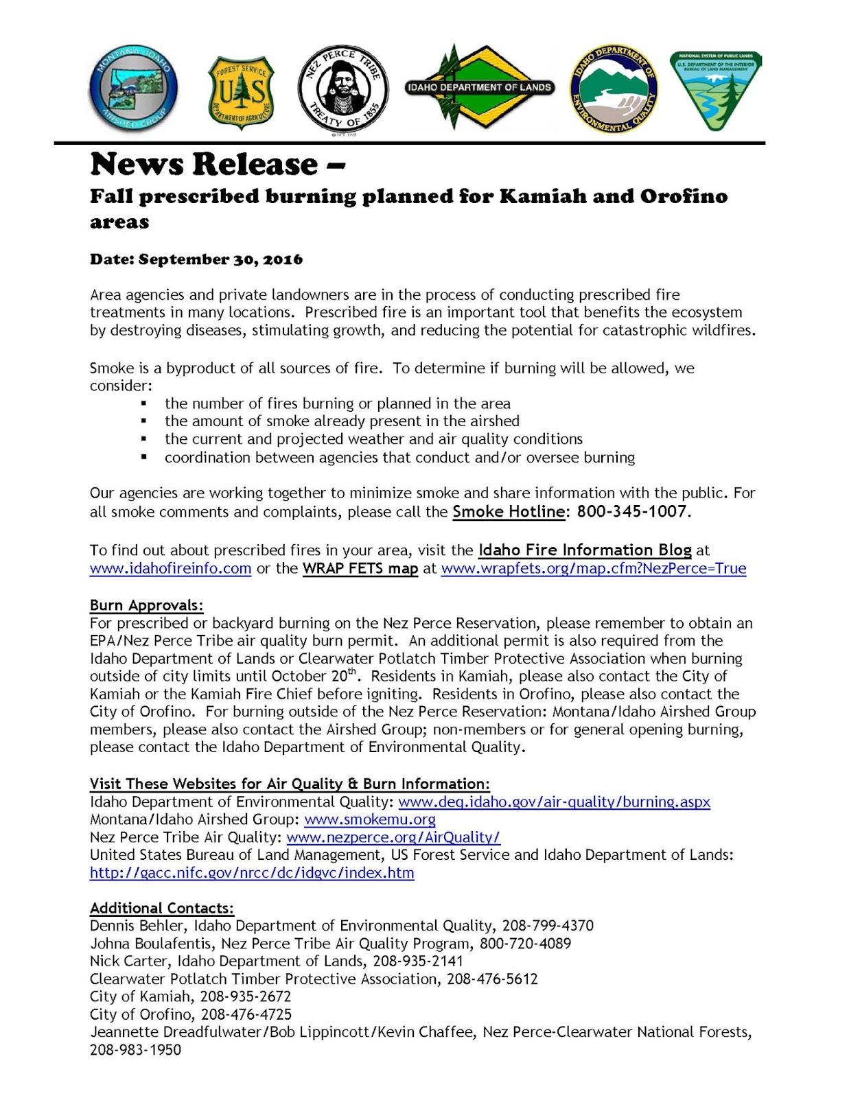 Kamiah Fire Map.Idaho Fire Information September 2016