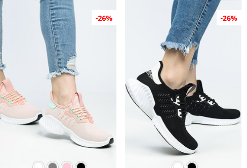 Pantofi sport dama roz, negri cu talpa de spuma moderni ieftini
