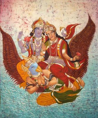 hindu god vishnu lakshmi devi garuda vahana