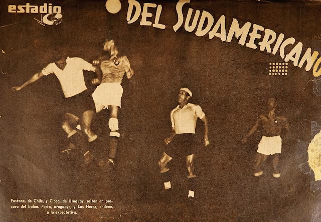 Uruguay y Chile en Campeonato Sudamericano de 1942