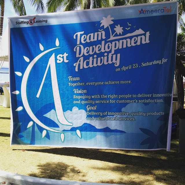 Ameeratel BPO team building program 2016 in Lapulapu City Mactan Island Cebu Philippines