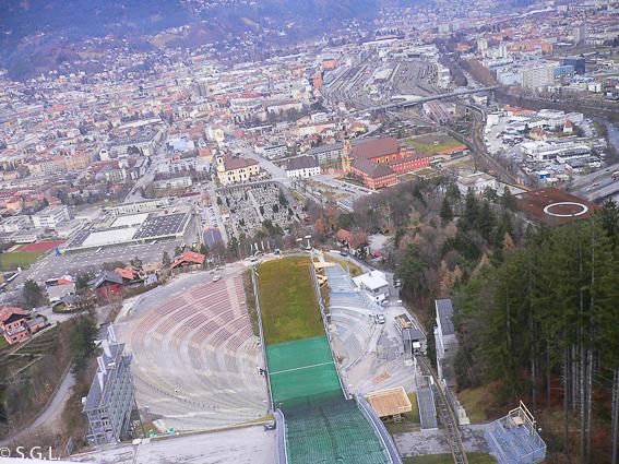 Trampolin de saltos de Bergisel. Innsbruck la capital del Tirol