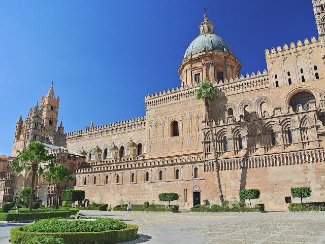 Katedra Palermo, widok na świątynię, Sycylia