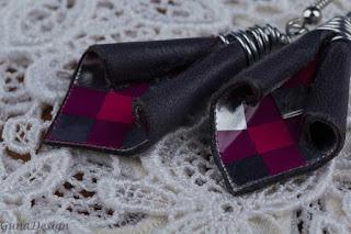 gunadesign guna andersone metal leather earrings