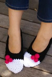 Felted wool ball shoe