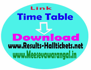 Adikavi Nannaya University UG 1st Year 1st Sem CBCS Nov 2015 Exam Time Table