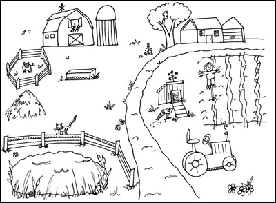 cartoon barnyard coloring pages - photo#8