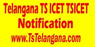 Telangana TS ICET TSICET 2017 Notification Download