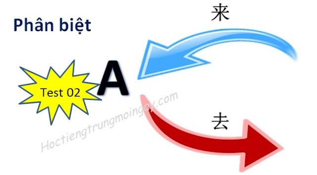 Phân biệt 来 và 去 trong tiếng Trung test 02