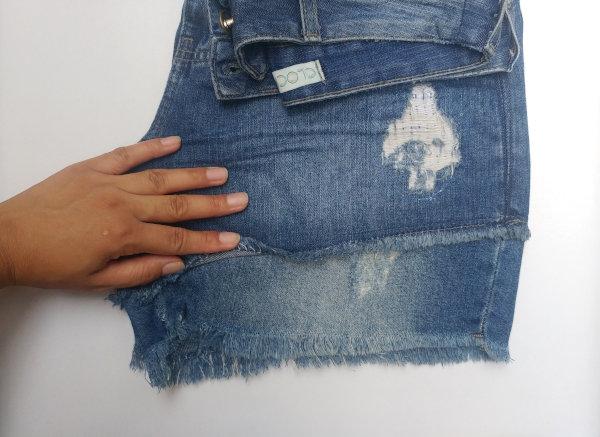Aumentar Comprimento Short Jeans Cintura Alta