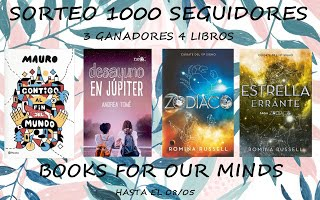 Participo en el SORTEO de Books for our minds