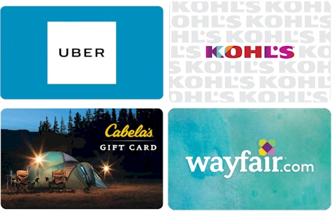 Gift card deals on eBay and Groupon: Uber, Wayfair, Cabela's and Kohl's