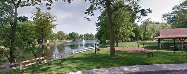 photo of Leclaire Lake Park in Edwardsville, Illinois