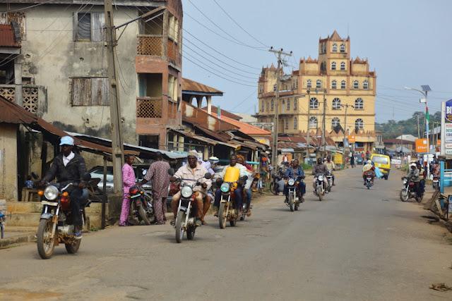 Iragbiji's main street