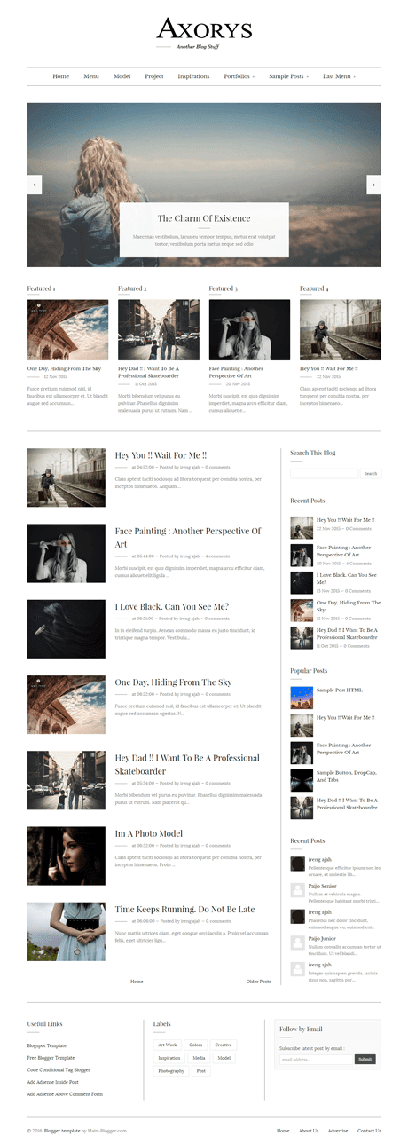 magazine style responsive blogger template