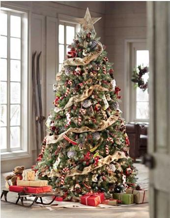 decorar árbol de navidad con estrella en la punta