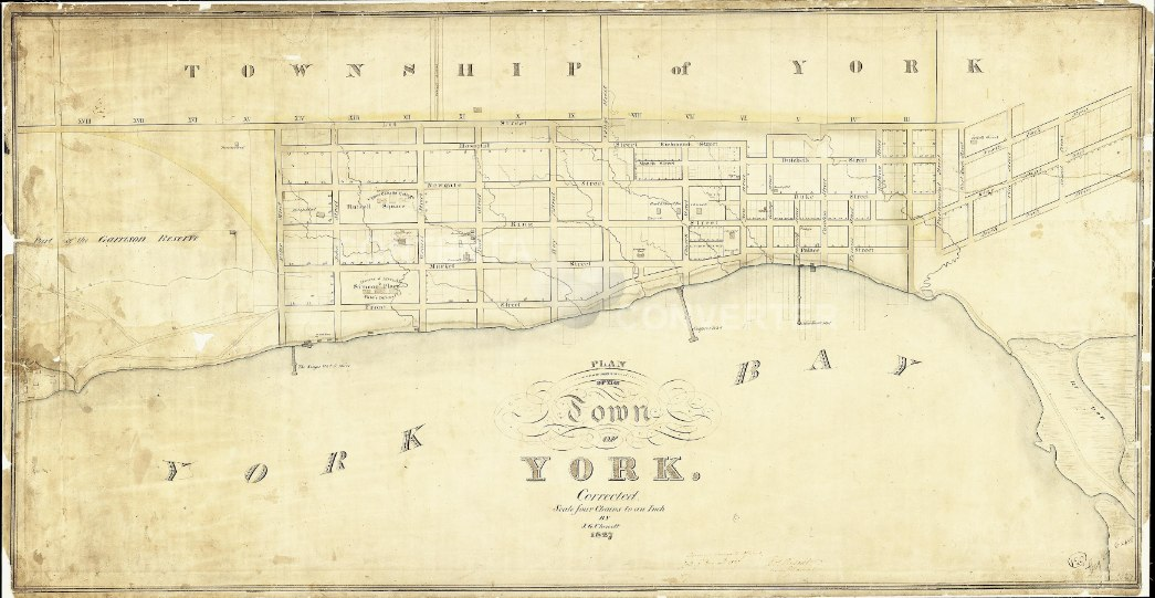 1827 Chewett Plan of the Town of York