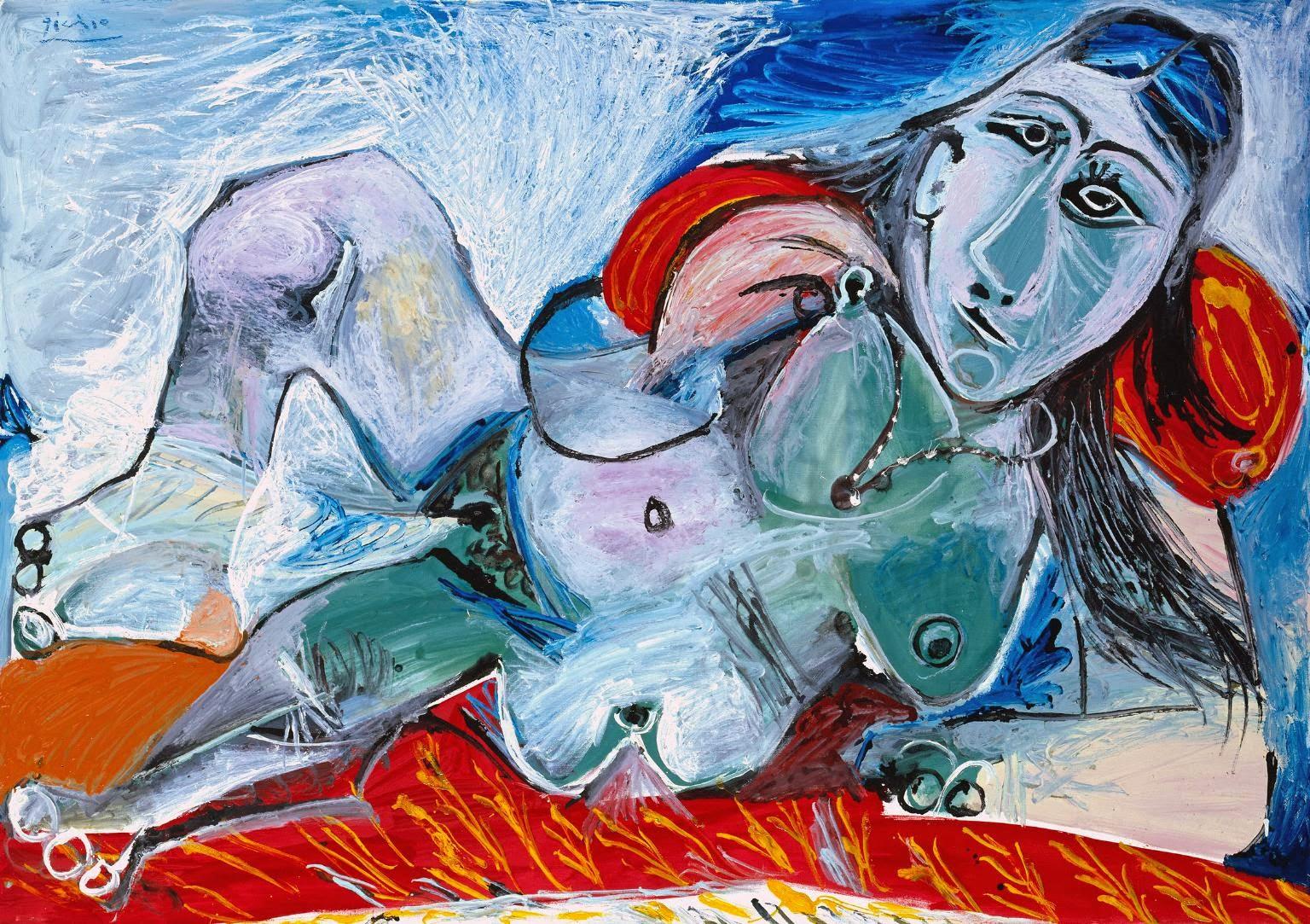 Mulher Nua com Colar - Picasso e suas pinturas ~ O maior expoente da Arte Moderna