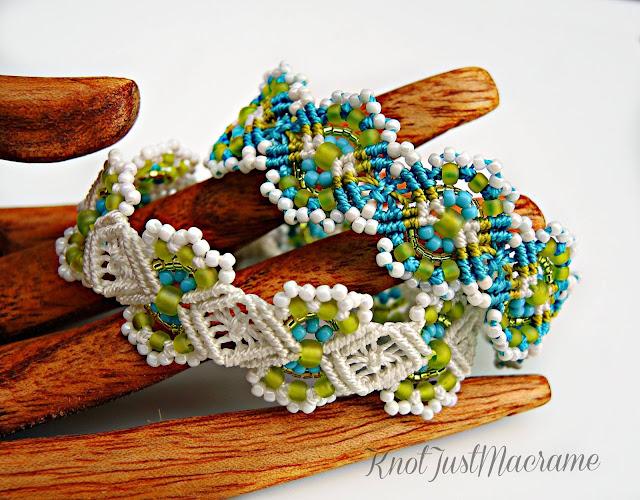Micro macrame bracelets by Sherri Stokey of KnotJustMacrame.