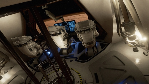 Người chơi sẽ đổ bộ lên bề mặt Sao Hỏa cùng hai phi hành gia khác. Khoang tàu được thiết kế theo bản vẽ của Trung tâm Nghiên cứu Langley của NASA.