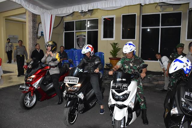Sekda Kapolres dan Dandim Konvoi Patroli Tahun Baru