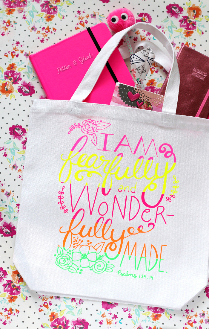 DIY Graphic Quote Tote Bag