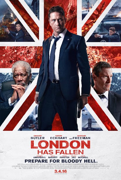 Poster Of London Has Fallen 2016 480p English HDRip Full Movie Download
