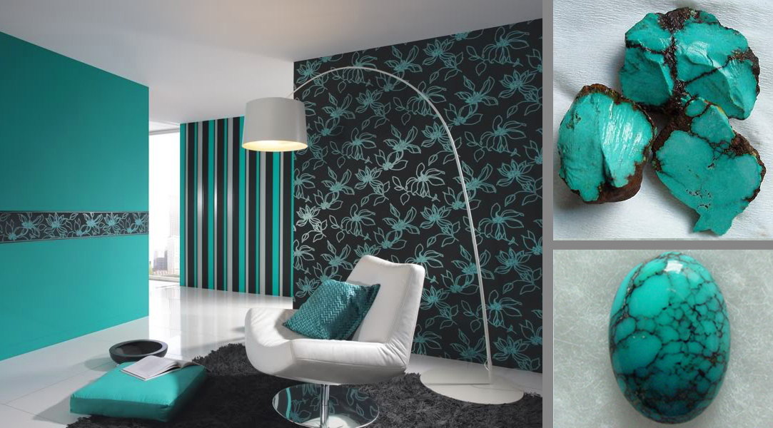 decorating ideas, wall paint, living rooms, Turquoise ...