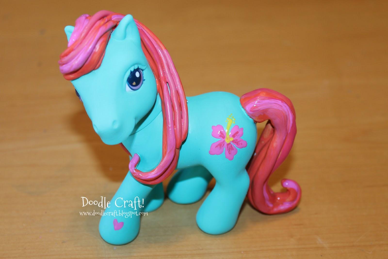 Doodlecraft diy custom my little ponies and a hibiscus cutie mark mightylinksfo