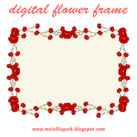 rose frame red