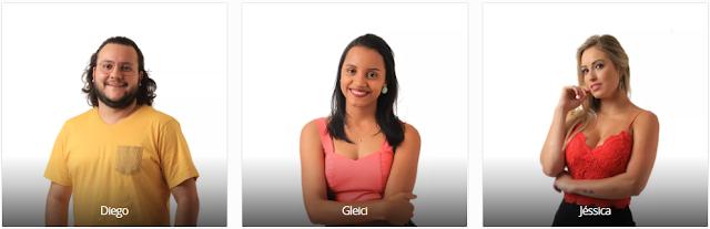Vote no Paredão do BBB18 desta semana: DIEGO X GLEICI X JESSICA e veja a enquete de quem esta ganhando