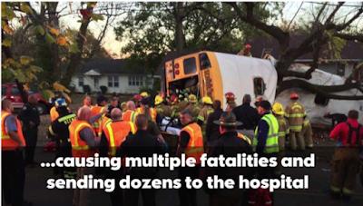 6 killed in school bus crash