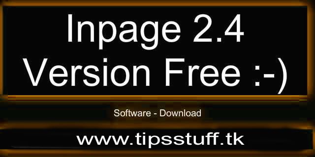 Inpage 2004 free download
