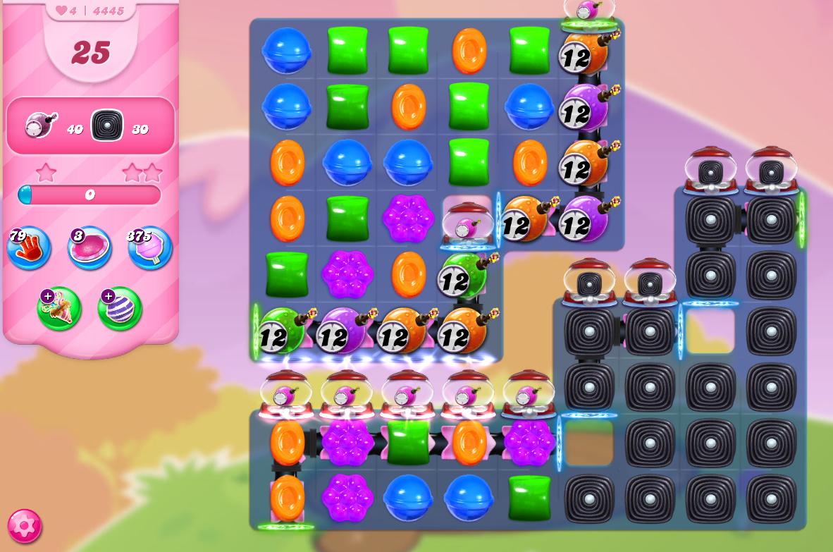 Candy Crush Saga level 4445