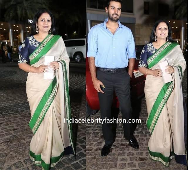 Jayasudha in Saree at Film Fare Awards 2016 South