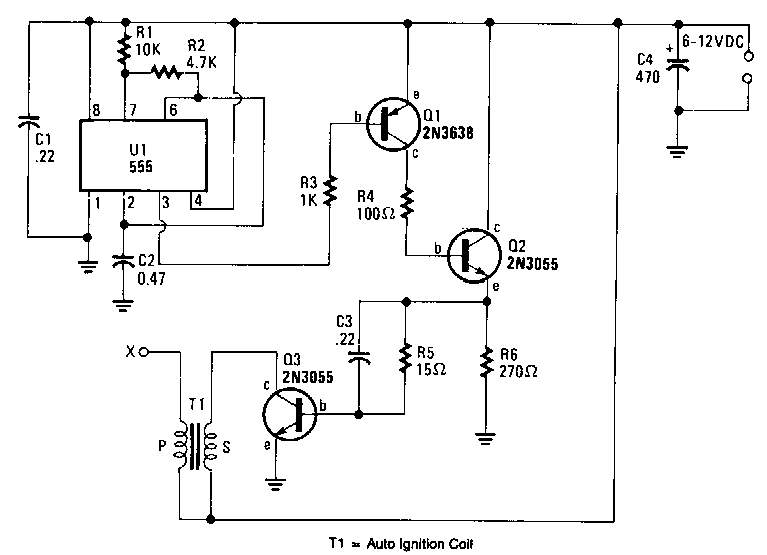 Battery Powered High-voltage Generator Circuit Diagram
