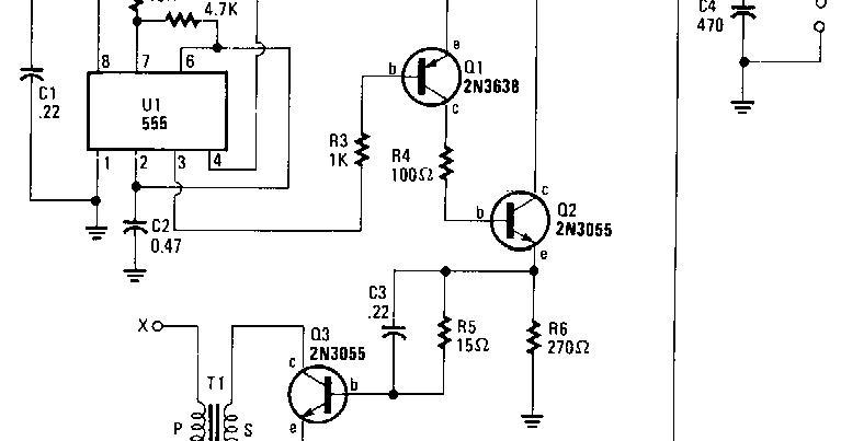 555 high voltage generator circuit diagram